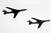 "United States Department of Defense released its 1985 assessment of Soviet Military Power at the Pentagon in Washington, DC on April 2, 1985.  The release stated ""in-flight refueling from BADGER A tankers extends the range of BADGER C strike aircraft.""<br /> Credit: Department of Defense via CNP"