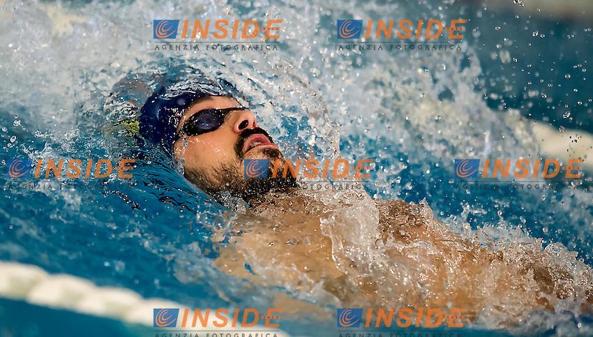 Luca Marin Canottieri Aniene<br /> 200 dorso uomini<br /> VI Trofeo Citta di Milano Swimming Nuoto<br /> Day 01 - 18 Marzo 2016<br /> D. Samuele Swimming Pool<br /> Milano Italy<br /> Photo D.Montano/Deepbluemedia/Insidefoto