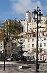 Praca do Rossio, Altstadt (Baixa), Lissabon, Portugal