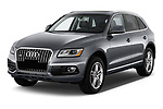 2013-2014 Audi Q5 Base 5 Door SUV angular front stock photos of front three quarter view