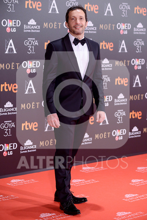 Salvador Calvo attends to the Red Carpet of the Goya Awards 2017 at Madrid Marriott Auditorium Hotel in Madrid, Spain. February 04, 2017. (ALTERPHOTOS/BorjaB.Hojas)