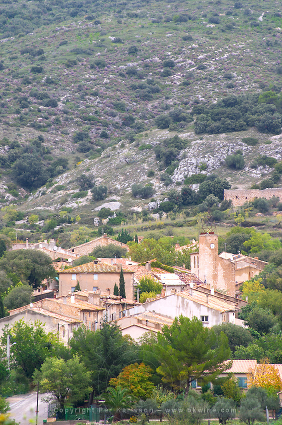 The village Montpeyroux. Montpeyroux. Languedoc. France. Europe.