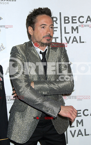 April 28, 2012 Robert Downey Jr.  attends the Closing  Night of the 2012 Tribeca Film Festival with Marvel' the Avengers at BMCC Tribeca Pac in New York City..Credit:RWMediapunchinc.com