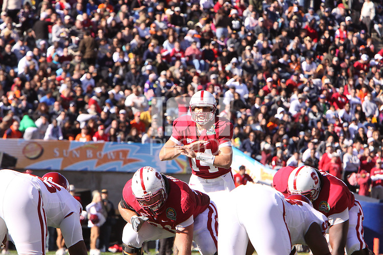 EL PASO, TX - DECEMBER 31:  Tavita Pritchard of the Stanford Cardinal during Stanford's 31-27 loss to the Oklahoma Sooners in the Sun Bowl on December 31, 2009 in El Paso, Texas.