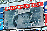 12 April 2012: A moment of silence is observed to honor the memory of Gary Carter on Opening Day prior to a game between the Washington Nationals and the Cincinnati Reds at Nationals Park in Washington, DC. The Nationals defeated the Reds 3-2 in 10 innings to take the first game of their 4-game series. Mandatory Credit: Ed Wolfstein Photo