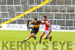 Micheal Burns Dr Crokes  takes on Brendan O'Keeffe Rathmore during their SFC clash in Fitzgerald Stadium on Sunday