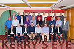 The Castleisland Desmonds team that won the 1985 All Ireland club Championship held a 30th anniversary reunion in the River Island Hotel and the players posed in the same positions as they did in the official team picture taken thirty years ago front row l-r: Diarmuid O'Ciardubhain, William O'Connor, Dr. Dave Geaney manager, Denny Lyons, Arthur O'Connor, Jack Nolan Chairman, Chisty kearney, Donal O'Connor. Middle row: Eamon O'Connor, Mike the Legend O'Connor, Dermot Hanafin, Phil Horan, Donie Buckley, Charlie Nelligan, Johnny O'Connor, Domo Lyne, Pa O'Callaghan, John Pender treasurer. Back row: Eamon O'Sullivan P.R.O., Danny O'Connor, Tommy Roche, Martin Downey, Niall O'Donoghue, Dan Lucey, John Lordan, Tom O'Leary, John Lyons and Sean McCarthy Secretary