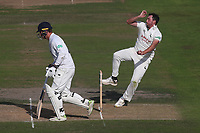 Mark Footitt in bowling action for Nottinghamshire during Nottinghamshire CCC vs Essex CCC, Specsavers County Championship Division 1 Cricket at Trent Bridge on 12th September 2018