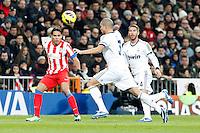 Pepe, Sergio Ramos and Radamel Falcao during La Liga Match. December 01, 2012. (ALTERPHOTOS/Caro Marin)