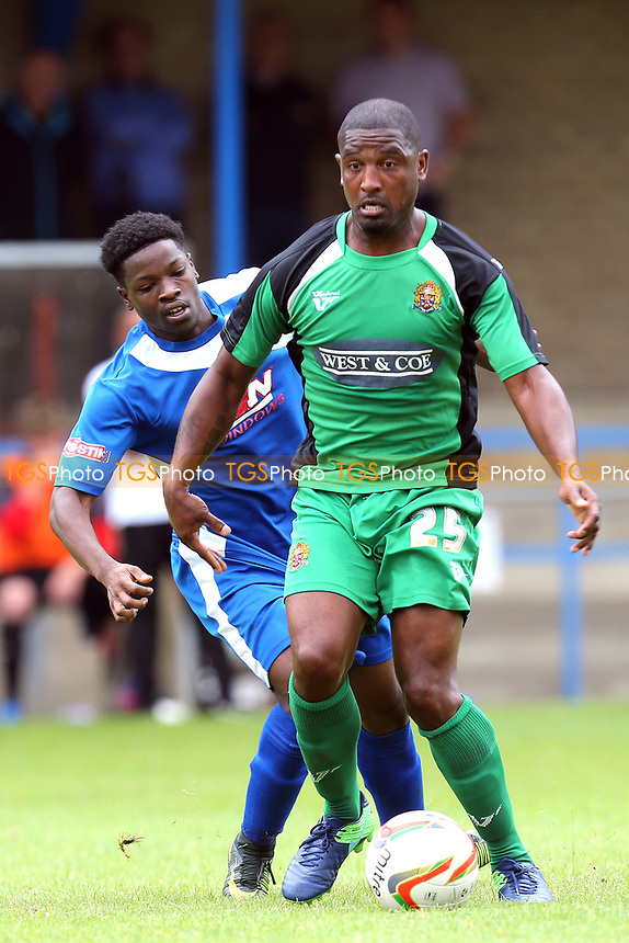 Andre Boucaud of Dagenham during Bedford Town vs Dagenham & Redbridge, Friendly Match Football at The Eyrie on 15th July 2017