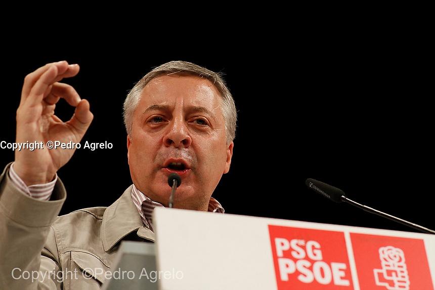 PSOE, político Pepe Blanco en un mitin