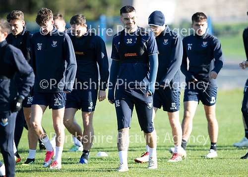 St Johnstone Training….  McDiarmid Park…26.10.18<br />Tony Watt pictured during training this morning ahead of tomorrow's game against St Mirren.<br />Picture by Graeme Hart.<br />Copyright Perthshire Picture Agency<br />Tel: 01738 623350  Mobile: 07990 594431