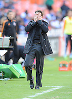 D.C. United head coach Ben Olsen during the game. The Houston Dynamo defeated D.C. United 2-1, at RFK Stadium, Saturday October 27, 2013.