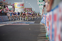 Giro d'Italia stage 13.Savano-Cervere: 121km..Mark Cavendish sprinting for the win