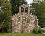 A church made of local fieldstones. Saint Andrew's-in-the-Valley, Tamworth, New Hampshire