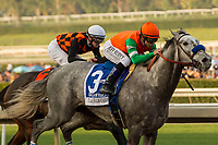 ARCADIA, CA  DECEMBER 26: #3 Unique Bella, ridden by Mike Smith, wins the La Brea Stakes (Grade l), on December 26, 2017, at Santa Anita Park in Arcadia, CA. (Photo by Casey Phillips/ Eclipse Sportswire/ Getty Images)