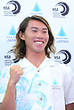 Hiroto Arai, <br /> AUGUST 4, 2016 - Surfing : <br /> Nippon Surfing Association holds a press conference after it was decided that <br /> the sport of surfing would be added to the Tokyo 2020 Summer Olympic Games on August 3rd, 2016 <br /> in Tokyo, Japan. <br /> (Photo by AFLO SPORT)