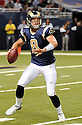 SAM BRADFORD, of the ST. Louis Rams, in action during the Rams game against the Minnesota Vikings at Edward Jones Dome in St. Louis, MO  on August 14, 2010.  The Vikings won the game 28-7..