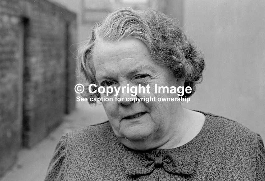 Maureen Smyth, candidate, West Belfast, Alliance Party of N Ireland, N Ireland Assembly Election, June 1973. 197306000315a<br />
