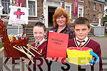 MUSEUM: Jack Foley, Mounthawk, and Colin Griffin, Cahermoneen, of Holy Family School, Tralee, with Kate Buckley, Co-ordinator.of the Schools Museum Project which was launched at the County Museum in Denny Street on Wednesday.