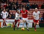 Ben Turner of Coventry City tussles with Matt Done of Sheffield Utd - English League One - Sheffield Utd vs Coventry City - Bramall Lane Stadium - Sheffield - England - 13th December 2015 - Pic Simon Bellis/Sportimage-