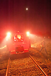 Night run at the Folsom Railroad Festival and speeder run on the Placerville Branch, Folsom to near Latrobe, El Dorado County.