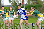 Aisling Leonard Castleisland Desmonds/Duagh goes past Clodagh Quinlan Southern Gaels  in the County final in Killorglin on Sunday