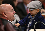 Nevada Assemblyman Ira Hansen, R-Sparks, plays with his grandson Sawyer Gurries, 2, before opening day ceremonies at the Legislative Building in Carson City, Nev., on Monday, Feb. 2, 2015. (Cathleen Allison/Las Vegas Review-Journal)