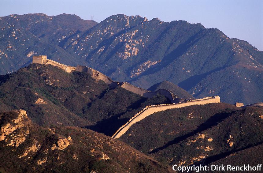 Große Mauer (ChangCheng) bei Badaling, Peking, China, Unesco-Weltkulturerbe