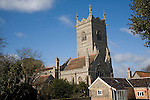Tower of St Peter and Paul church,  Wangford, Suffolk, England