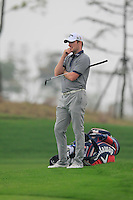Marc Warren (SCO) on the 5th green during Saturay's Round 3 of the 2014 BMW Masters held at Lake Malaren, Shanghai, China. 1st November 2014.<br /> Picture: Eoin Clarke www.golffile.ie