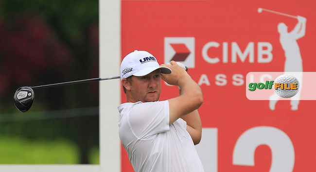 Brice Garnett (USA) on the 12th tee during Round 3 of the CIMB Classic in the Kuala Lumpur Golf &amp; Country Club on Saturday 1st November 2014.<br /> Picture:  Thos Caffrey / www.golffile.ie
