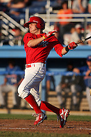 Batavia Muckdogs second baseman Matt Valaika (8) during a game vs. the Auburn Doubledays at Dwyer Stadium in Batavia, New York July 2, 2010.   Batavia defeated Auburn 6-3.  Photo By Mike Janes/Four Seam Images
