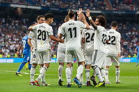 of Real Madrid during the match between Real Madrid v Getafe CF of LaLiga, 2018-2019 season, date 1. Santiago Bernabeu Stadium. Madrid, Spain - 19 August 2018. Mandatory credit: Ana Marcos / PRESSINPHOTO
