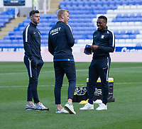 Preston North End players doing a pre match inspection <br /> <br /> Photographer David Horton/CameraSport<br /> <br /> The EFL Sky Bet Championship - Reading v Preston North End - Saturday 19th October 2019 - Madejski Stadium - Reading<br /> <br /> World Copyright © 2019 CameraSport. All rights reserved. 43 Linden Ave. Countesthorpe. Leicester. England. LE8 5PG - Tel: +44 (0) 116 277 4147 - admin@camerasport.com - www.camerasport.com