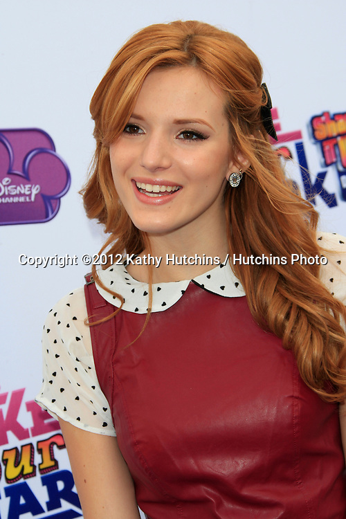 """LOS ANGELES - OCT 6:  Bella Thorne arrives at the  """"Make Your Mark: Shake It Up Dance Off 2012"""" at LA Center Studios on October 6, 2012 in Los Angeles, CA"""