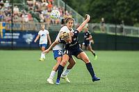 Allston, MA - Sunday July 17, 2016: Angela Salem, Leah Galton during a regular season National Women's Soccer League (NWSL) match between the Boston Breakers and Sky Blue FC at Jordan Field.