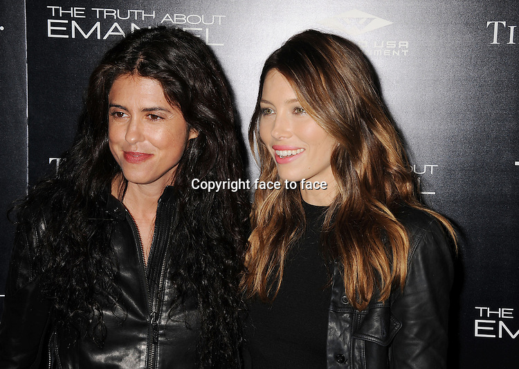 HOLLYWOOD, CA- DECEMBER 04: Director Francesca Gregorini (L) and actress Jessica Biel arrive at the 'The Truth About Emanuel' - Los Angeles Premiere - Arrivals at ArcLight Hollywood on December 4, 2013 in Hollywood, California.<br /> Credit: Mayer/face to face<br /> - No Rights for USA, Canada and France -