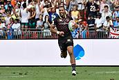 2nd February 2019, Spotless Stadium, Sydney, Australia; HSBC Sydney Rugby Sevens; England versus Fiji; Dan Norton of England runs through to score a try