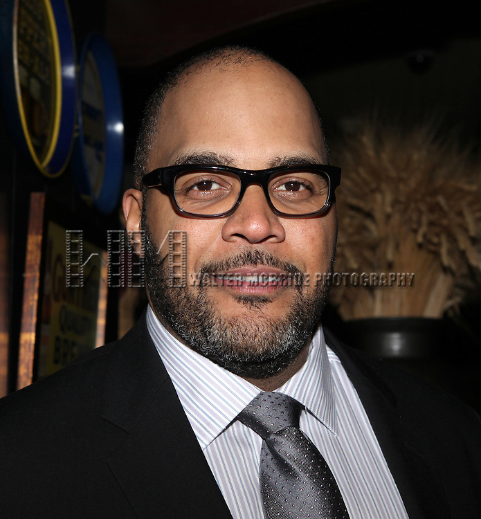 "Victor Williams.attending the opening Night Party for Playwrights Horizons' World Premiere Production of ""A Small Fire"" at Heartland Brewery in New York City."