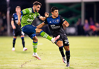 10th July 2020, Orlando, Florida, USA;  During the MLS Is Back Tournament between the Seattle Sounders v San Jose Earthquakes on July 10, 2020 at the ESPN Wide World of Sports, Lake Buena Vista FL.