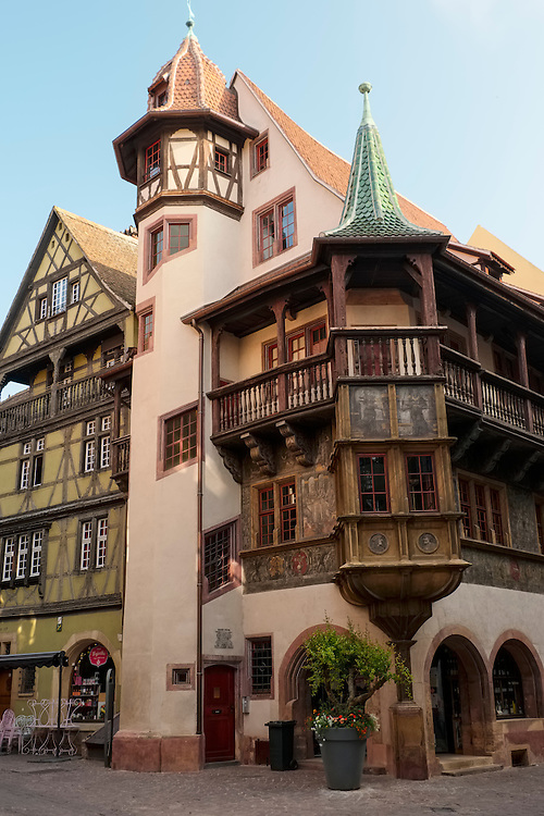 Unique and striking architecture is found in the medieval city center area of Colmar.