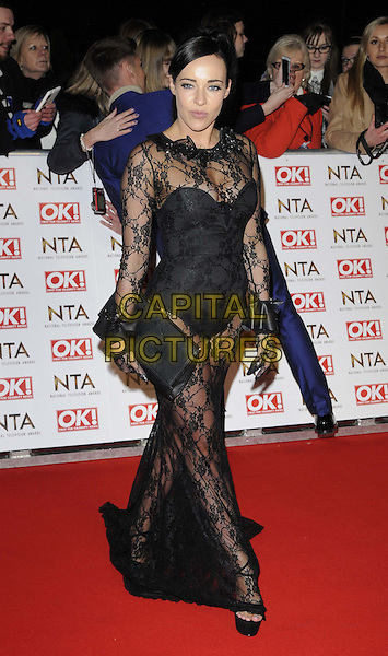 LONDON, ENGLAND - JANUARY 21: Stephanie Davis attends the National TV Awards 2015, The O2 Arena, Millennium Way, Peninsula Square, Greenwich, on Wednesday January 21, 2015 in London, England, UK. <br /> CAP/CAN<br /> &copy;Can Nguyen/Capital Pictures
