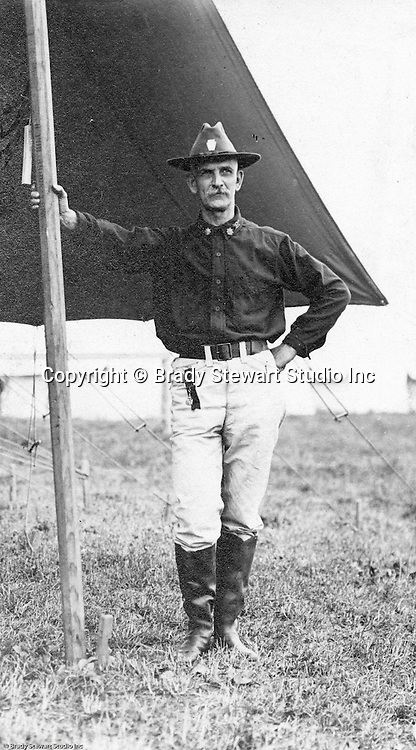 Gettysburgh PA:  Officer from the 15th US Cavalry Unit participating in the 40th Anniverary of the Battle of Gettysburg