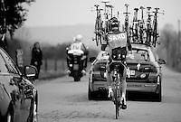 Liège-Bastogne-Liège 2013..sliding back into the peloton