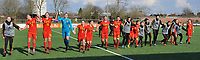 20180326 - ZALTBOMMEL , THE NETHERLANDS : Belgian players celebrating their victory after the UEFA Women Under 17 Elite round game between Belgium WU17 and Romania WU17, on the second matchday in group 1 of the Uefa Women Under 17 elite round in The Netherlands , monday 26 th March 2018 . PHOTO SPORTPIX.BE    DIRK VUYLSTEKE