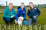 Joe Arbon, Clare Kelly, Gemma Key with Jetro at the Dog Show and Fun Day fundraiser for Irish Guide Dogs at the John Mitchels sports complex on Saturday