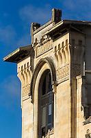 France, Aquitaine, Pyrénées-Atlantiques, Pays Basque, Biarritz:  La Gare du Midi, Cette ancienne gare avec sa sa façade: Art Nouveau, est devenue salle de spectacle et auditorium //  France, Pyrenees Atlantiques, Basque Country, Biarritz: Gare du Midi, South Station, this old station with its art nouveau façade: Books, became concert hall and auditorium