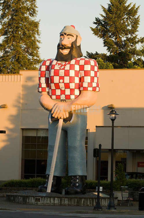 Paul Bunyan Statue in the Kenton Neighborhood, Portland, Oregon
