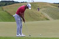Paul Casey (ENG) birdie putt on the 8th green during Saturday's Round 3 of the 117th U.S. Open Championship 2017 held at Erin Hills, Erin, Wisconsin, USA. 17th June 2017.<br /> Picture: Eoin Clarke | Golffile<br /> <br /> <br /> All photos usage must carry mandatory copyright credit (&copy; Golffile | Eoin Clarke)
